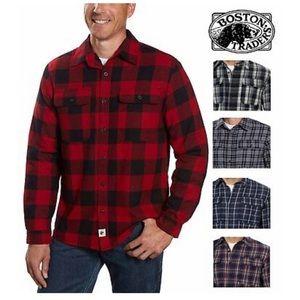 Boston traders fleece lined flannel red/black L